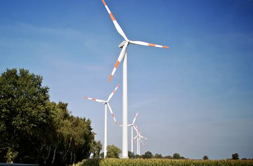 Bassum wind farm in Lower Saxony Germany