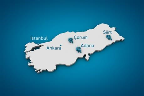 Map over Statkraft in Turkey.